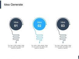 Idea Generate Innovation L612 Ppt Powerpoint Presentation Icon Inspiration