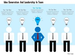 Idea Generation And Leadership In Team Flat Powerpoint Design
