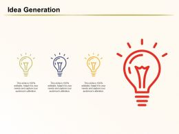 Idea Generation Audiences Attention Finance Ppt Powerpoint Ideas