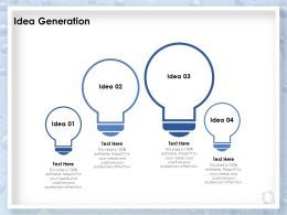 Idea Generation Audiences Attention Innovation Ppt Presentation Design Templates