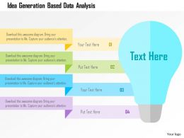 Idea Generation Based Data Analysis Flat Powerpoint Design