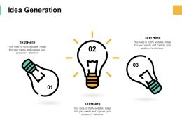 Idea Generation Bulb Innovation F185 Ppt Powerpoint Presentation Microsoft