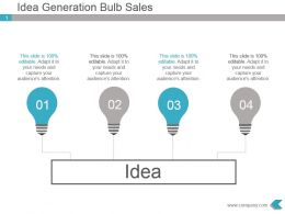 Idea Generation Bulb Sales Presentation Diagram