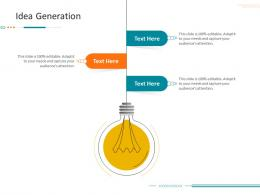 Idea Generation Corporate Tactical Action Plan Template Company Ppt Information