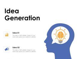 Idea Generation Development K329 Ppt Powerpoint Presentation Design Inspiration