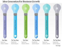 Idea Generation For Business Growth Flat Powerpoint Design