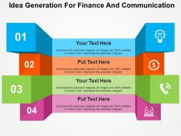 Idea Generation For Finance And Communication Flat Powerpoint Design