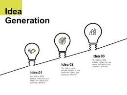 Idea Generation Growth K103 Ppt Powerpoint Presentation File Microsoft