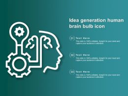 Idea Generation Human Brain Bulb Icon