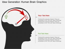 Idea Generation Human Brain Graphics Flat Powerpoint Design