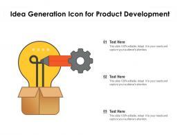 Idea Generation Icon For Product Development