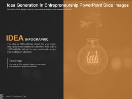 Idea Generation In Entrepreneurship Powerpoint Slide Images