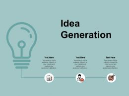 Idea Generation Innovation A135 Ppt Powerpoint Presentation Layouts Format Ideas