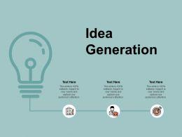 Idea Generation Innovation A135 Ppt Powerpoint Presentation Layouts Format Ideas
