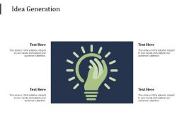 Idea Generation Innovation F301 Ppt Powerpoint Presentation Slides Format Ideas