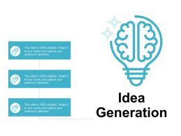 Idea Generation Innovation F380 Ppt Powerpoint Presentation Pictures Graphics