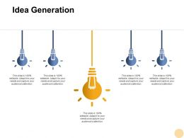 Idea Generation Innovation F408 Ppt Powerpoint Presentation Pictures Templates