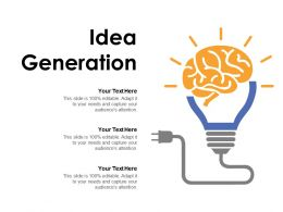Idea Generation Innovation L639 Ppt Powerpoint Presentation Ideas