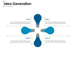 Idea Generation Innovation Light E149 Ppt Powerpoint Presentation Show Layout