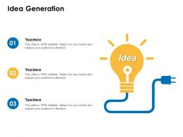 Idea Generation Innovation Management C356 Ppt Powerpoint Presentation Picture