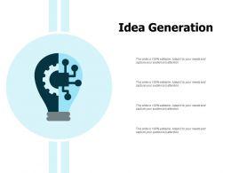 Idea Generation Innovation Management L453 Ppt Powerpoint Presentation Show