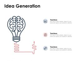 Idea Generation Innovation Ppt Powerpoint Presentation Pictures Background