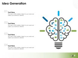 Idea Generation Knowledge L761 Ppt Powerpoint Presentation File Brochure