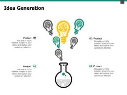 Idea Generation Knowledge Ppt Powerpoint Presentation Pictures Diagrams