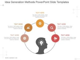 Idea Generation Methods Powerpoint Slide Templates