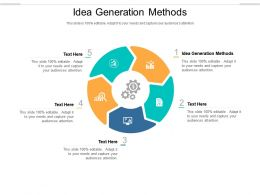 Idea Generation Methods Ppt Powerpoint Presentation Slides Show Cpb