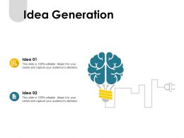 Idea Generation Mind Map F390 Ppt Powerpoint Presentation Pictures Visuals