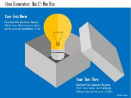 Idea Generation Out Of The Box Flat Powerpoint Design