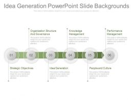 Idea Generation Powerpoint Slide Backgrounds