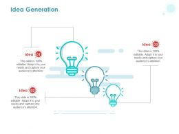 Idea Generation Ppt Powerpoint Presentation Pictures Structure