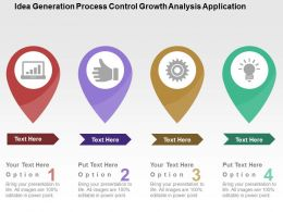 Idea Generation Process Control Growth Analysis Application Flat Powerpoint Design