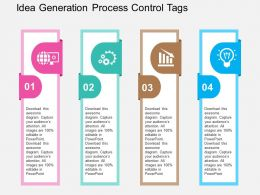 Idea Generation Process Control Tags Flat Powerpoint Design