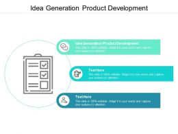 Idea Generation Product Development Ppt Powerpoint Presentation Outline Introduction Cpb