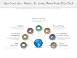 Idea Generation Product Screening Powerpoint Slide Deck