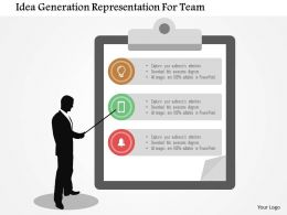 Idea Generation Representation For Team Flat Powerpoint Design