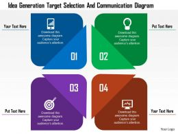 Idea Generation Target Selection And Communication Diagram Flat Powerpoint Design