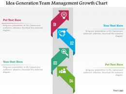Idea Generation Team Management Growth Chart Flat Powerpoint Design