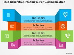 Idea Generation Technique For Communication Flat Powerpoint Design