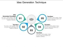 Idea Generation Technique Ppt Powerpoint Presentation Infographics Master Slide Cpb