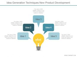 Idea Generation Techniques New Product Development Powerpoint Topics