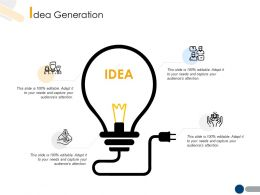 Idea Generation Technology A210 Ppt Powerpoint Presentation File Files