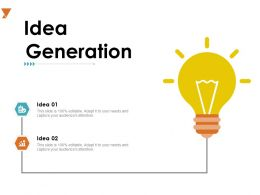 Idea Generation Technology A725 Ppt Powerpoint Presentation Styles Design Ideas
