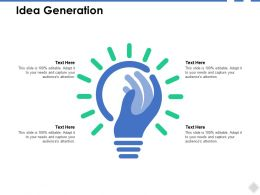 Idea Generation Technology B261 Ppt Powerpoint Presentation File Guide