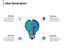 Idea Generation Technology B307 Ppt Powerpoint Presentation Ideas Show