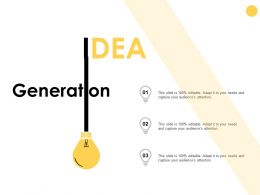 Idea Generation Technology D328ppt Powerpoint Presentation Gallery Skills
