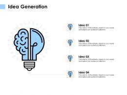 Idea Generation Technology K109 Ppt Powerpoint Presentation Diagram Images